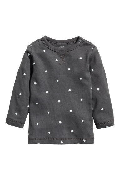 Jersey top - Dark grey/Stars -  | H&M CN