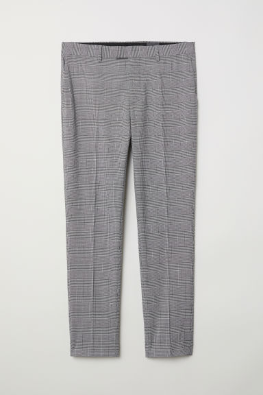 Suit trousers Skinny Fit - Grey/Checked - Men | H&M CN