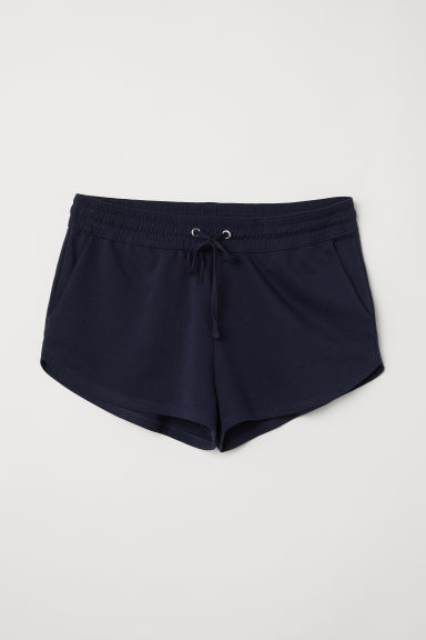 H&M+ Short sweatshirt shorts - Dark blue -  | H&M CN