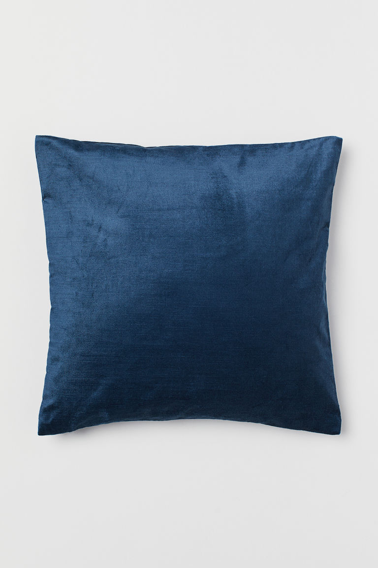 Velvet cushion cover - Blue - Home All | H&M CN