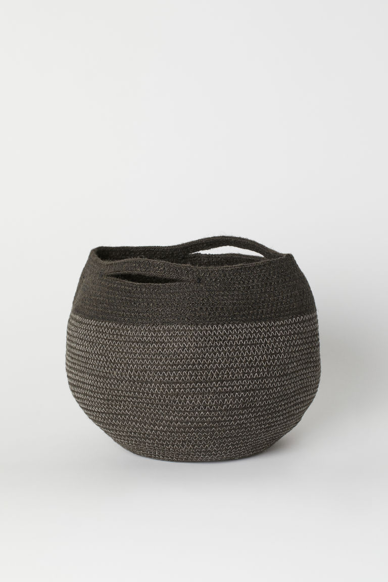 Jute Storage Basket - Charcoal gray - Home All | H&M US