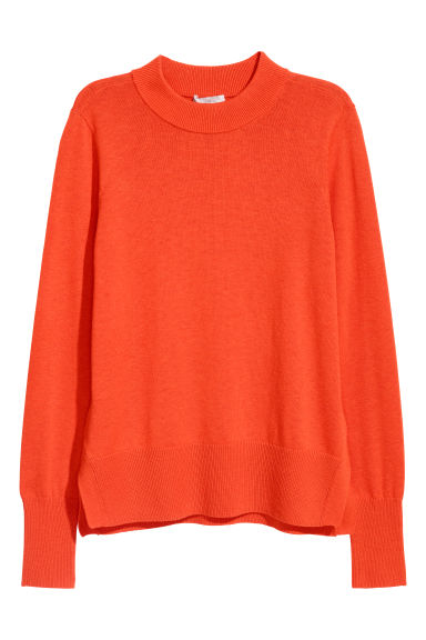 Fine-knit jumper - Orange -  | H&M