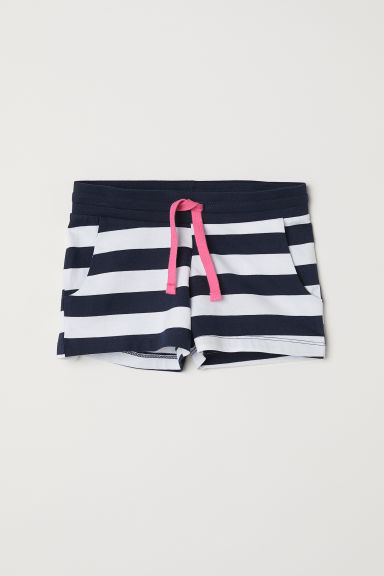 Short jersey shorts - White/Striped - Kids | H&M