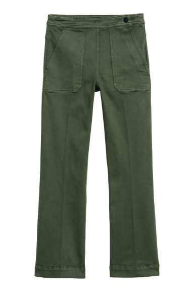 Twill trousers - Dark green -  | H&M CN