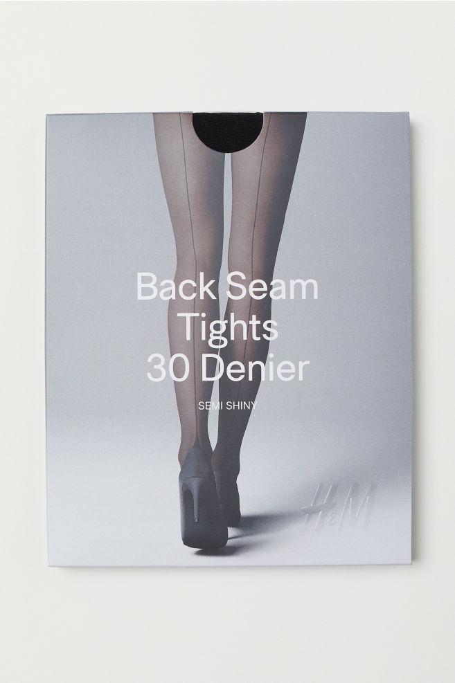 985d45904 30 denier seamed tights - Black - Ladies