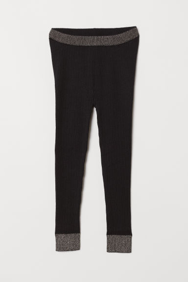 Ribbed leggings - Black - Kids | H&M