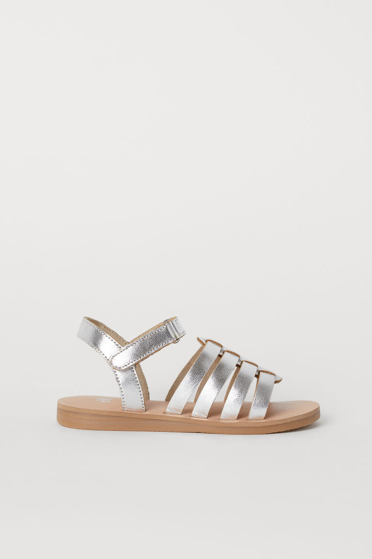 Leather sandals - Silver-coloured - Kids | H&M
