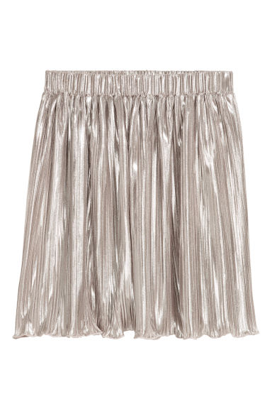 Pleated skirt - Silver-coloured - Kids | H&M CN