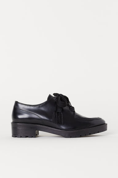 Leather shoes - Black - Ladies | H&M CN