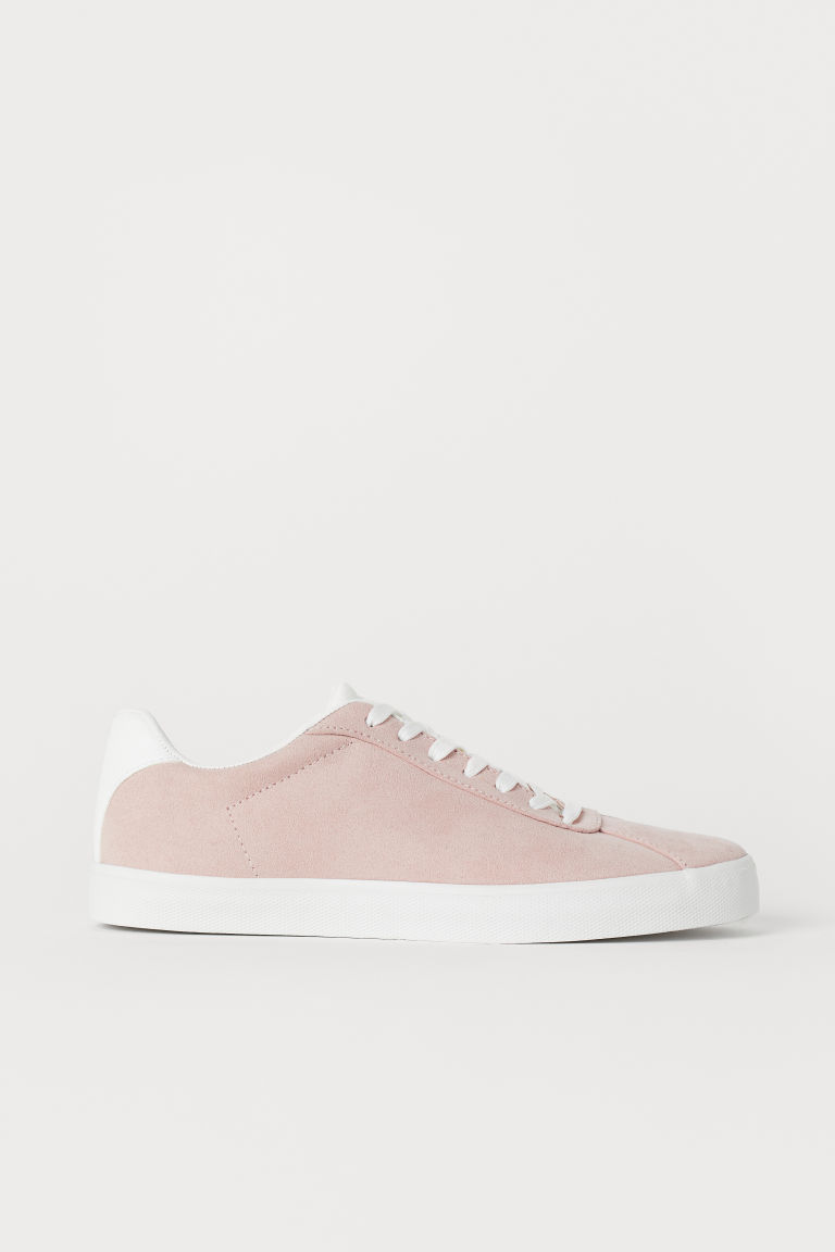 Trainers - Powder pink/Imitation suede - Ladies | H&M CN