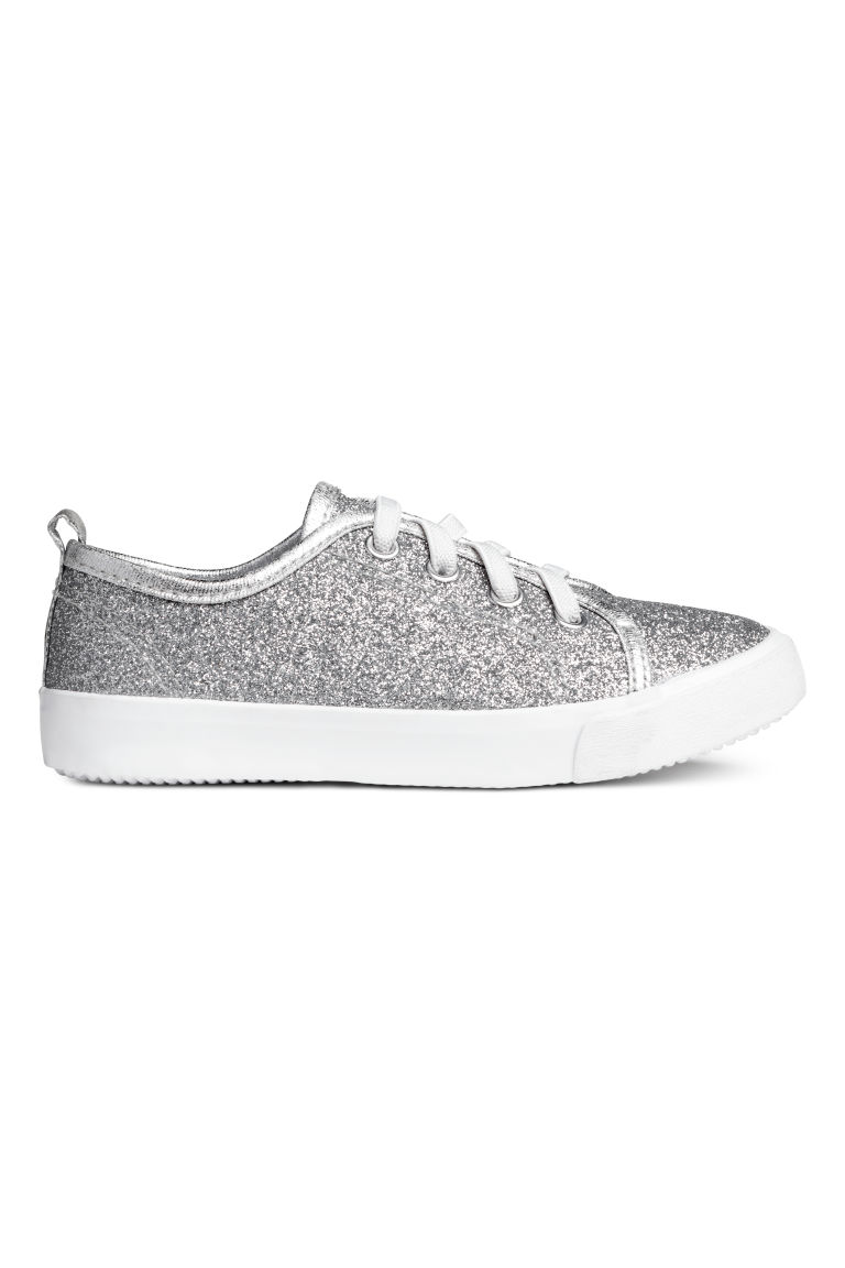 Trainers - Silver-coloured/Glittery - Kids | H&M