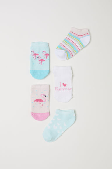 5-pack trainer socks - Light turquoise/Flamingo - Kids | H&M