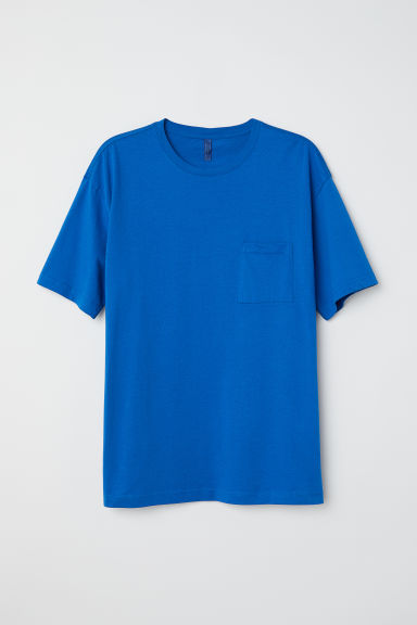 Wide T-shirt - Bright blue - Men | H&M CN