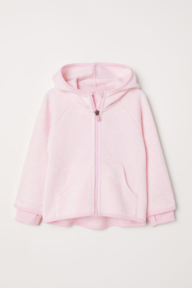 Knitted fleece jacket - Light pink - Kids | H&M