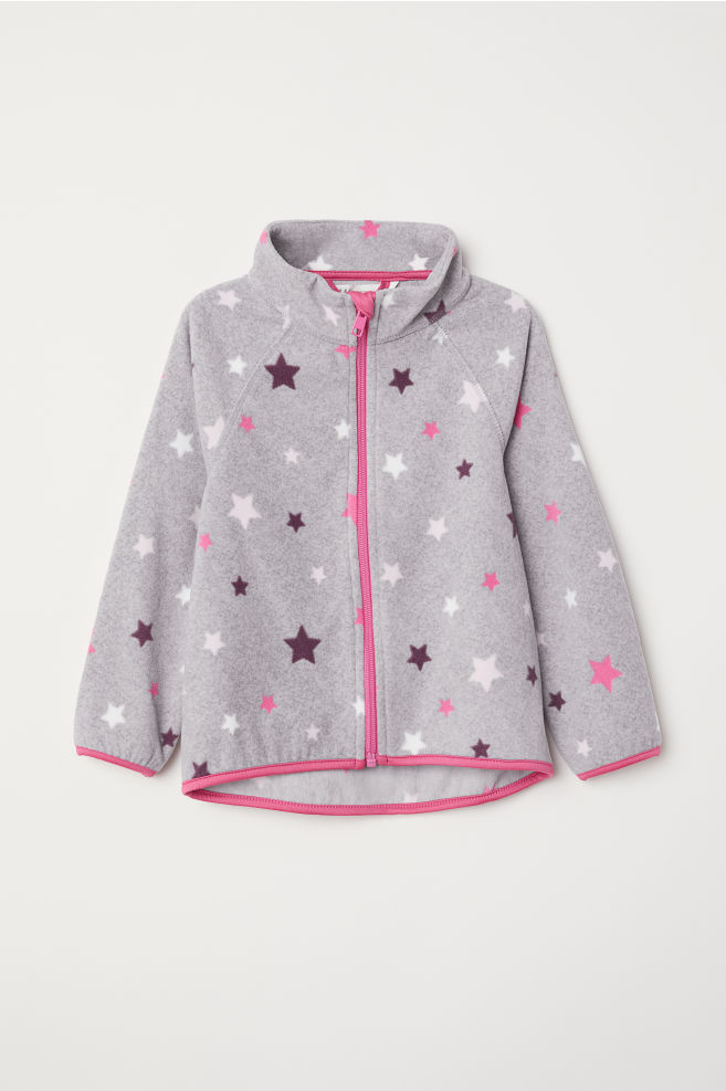 6468038a060f Fleece jacket - Grey Stars - Kids