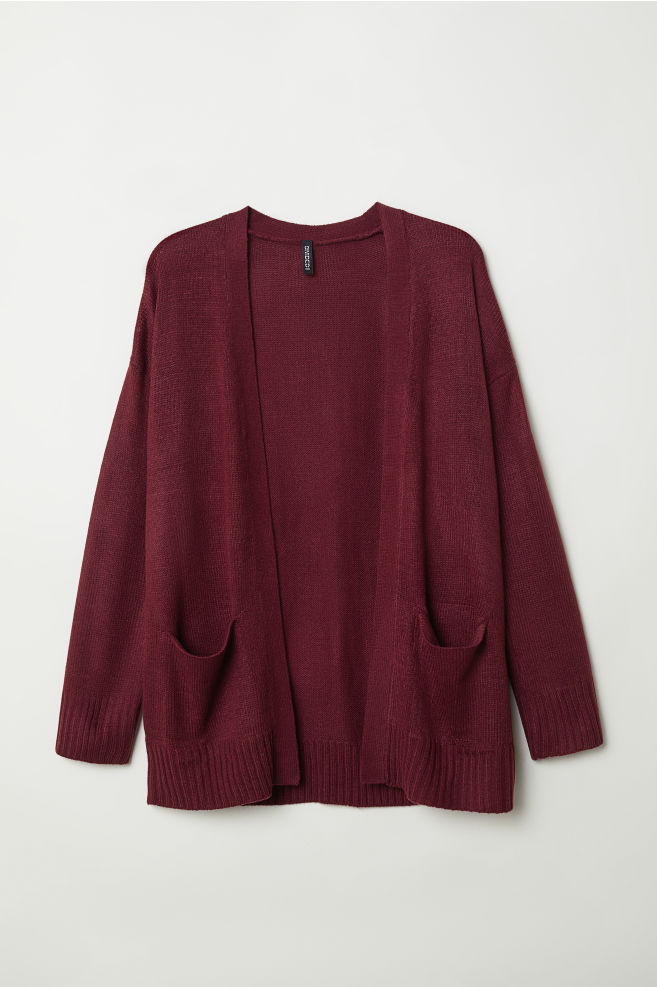 00874d218e37fd Knitted cardigan - Burgundy - Ladies
