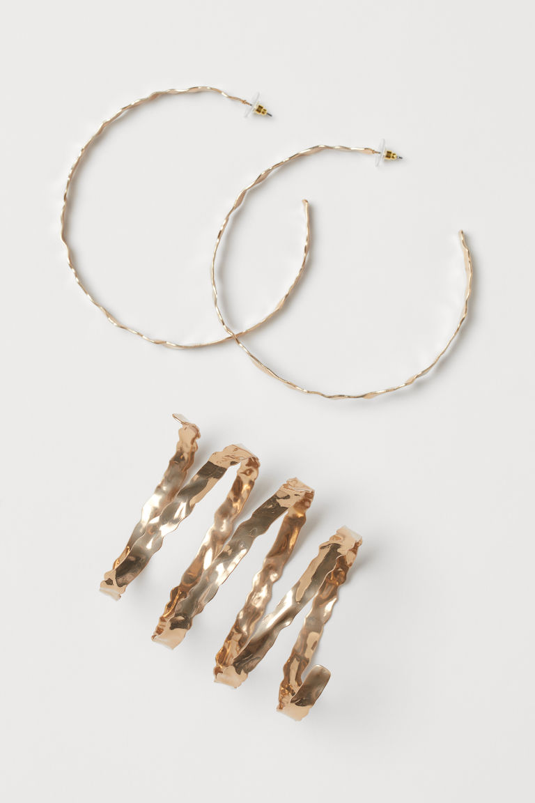 Earrings and Bracelet - Gold-colored - Ladies | H&M CA