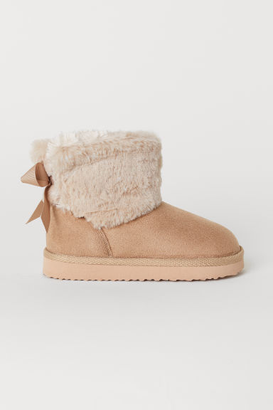 Warm-lined boots - Beige - Kids | H&M