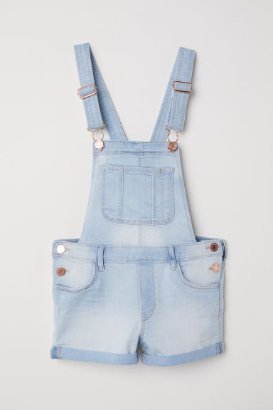 Dungaree shorts - Light denim blue -  | H&M