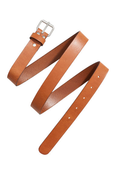 Leather belt - Cognac brown - Ladies | H&M