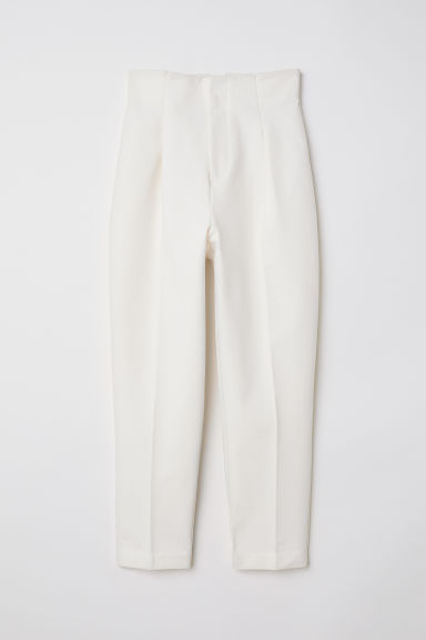 Wide trousers - Natural white - Ladies | H&M GB