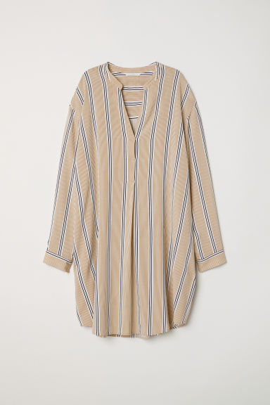Tunic - White/Striped - Ladies | H&M CN