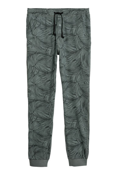 Pyjama bottoms - Grey/Leaves - Men | H&M