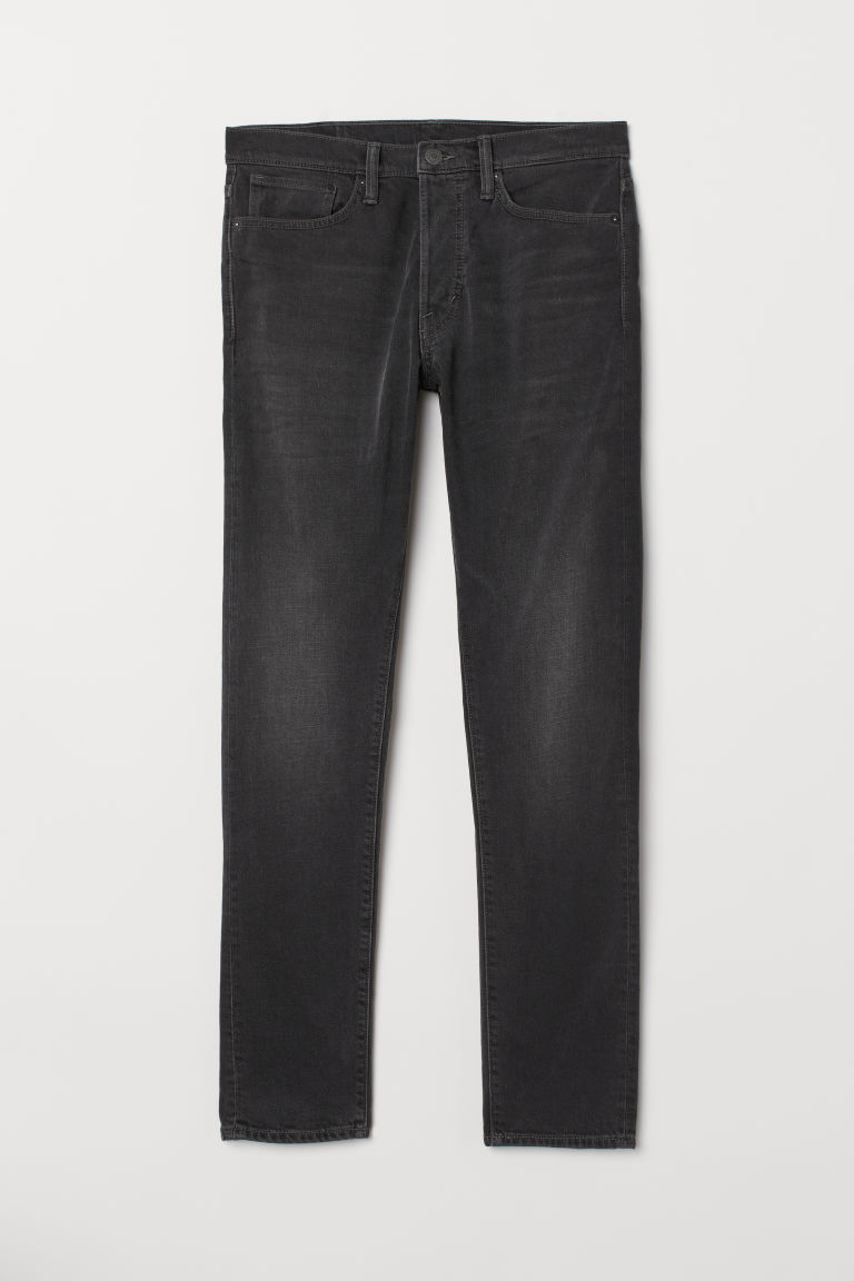 Slim Straight Jeans - Dunkelgrau - Men | H&M AT