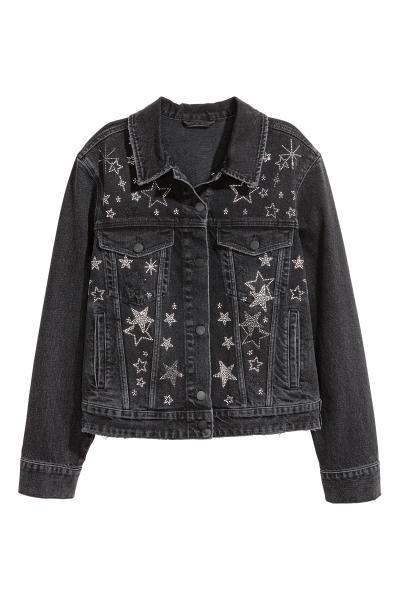 H&M - Veste en jean avec strass - 2