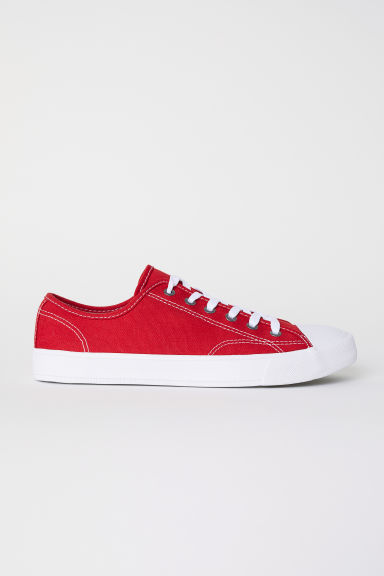 Canvas shoes - Red - Men | H&M