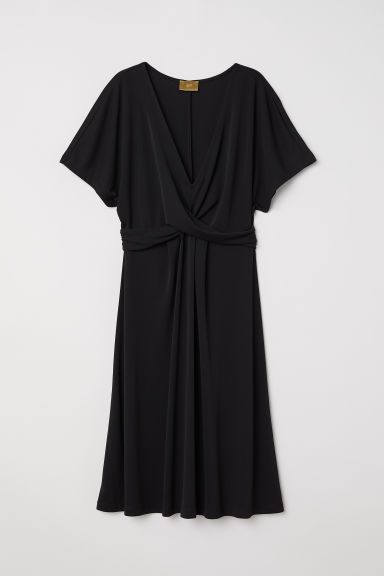Draped dress - Black - Ladies | H&M