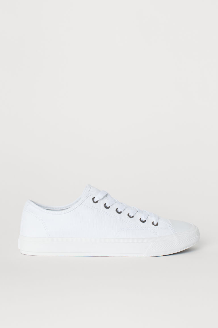 Canvas shoes - White - Men | H&M
