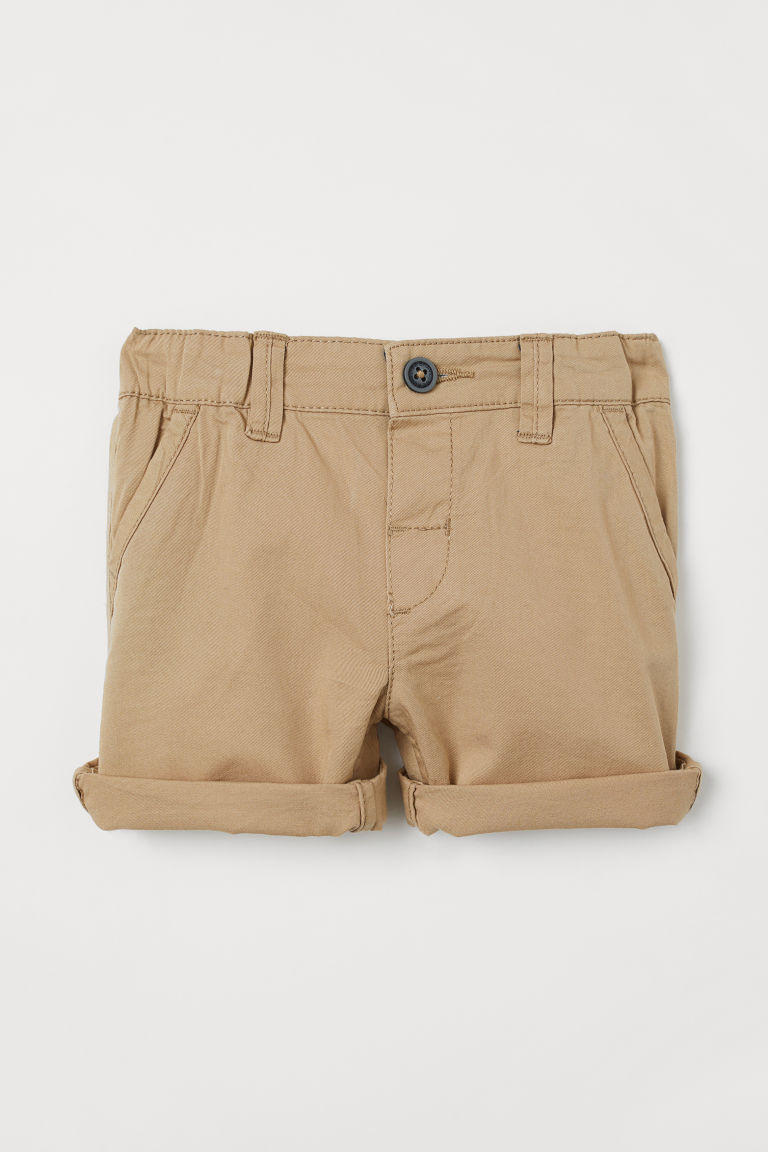 Katoenen short - Beige - KINDEREN | H&M BE