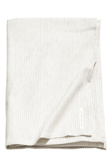 Jacquard-weave tablecloth - Natural white/Dark grey - Home All | H&M GB
