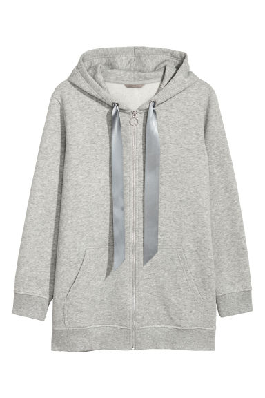 H&M+ Hooded jacket - Grey marl -  | H&M CN