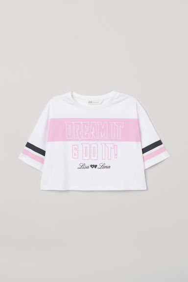 Short printed T-shirt - White/Lisa & Lena - Kids | H&M CN