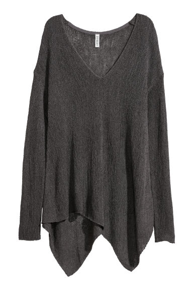 V-neck jumper - Dark grey -  | H&M
