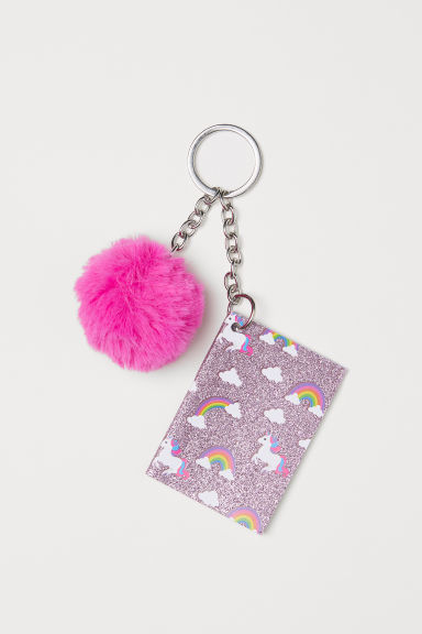 Keyring with a notebook - Pink/Unicorns - Kids | H&M