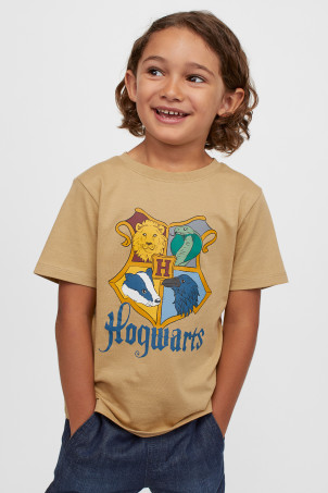 H&M 키즈 해리포터 반팔티 Printed T-shirt,Beige