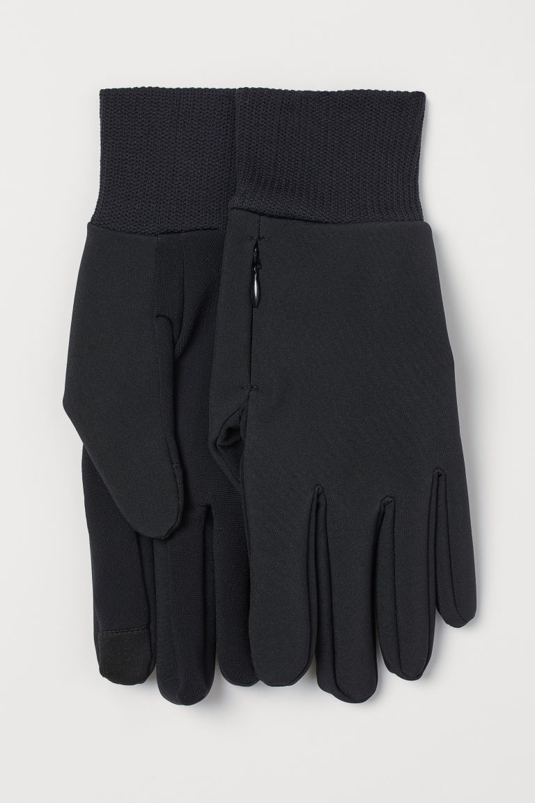 Running gloves - Black/Reflective - Men | H&M GB