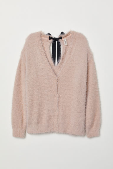 Fluffy cardigan - Old rose -  | H&M