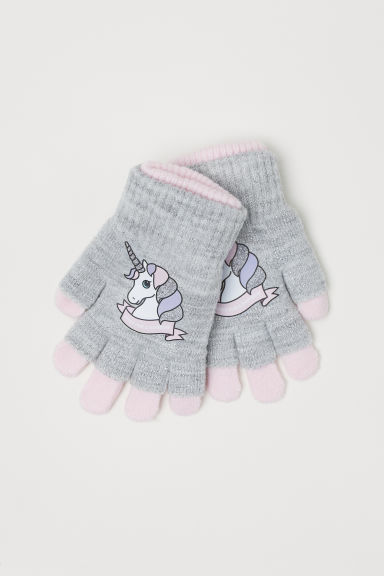 Gloves/fingerless gloves - Light pink/Unicorn - Kids | H&M