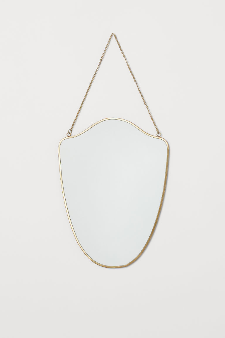 Mirror with a metal frame - Gold-coloured - Home All | H&M CN
