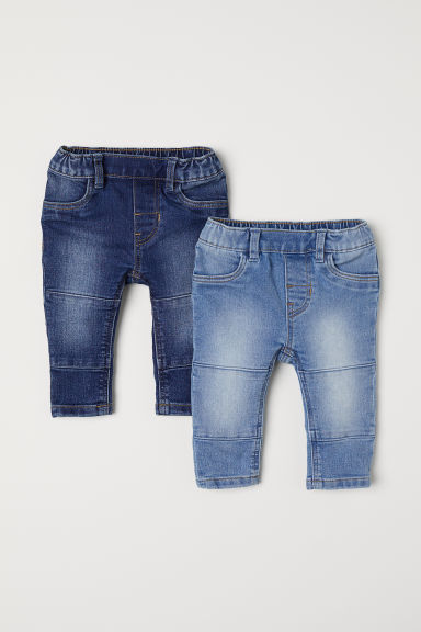 2-pack denim leggings - Denim blue - Kids | H&M