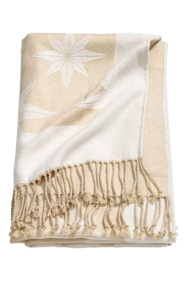 Christmas-patterned blanket - Gold-coloured/Star pattern -  | H&M IE