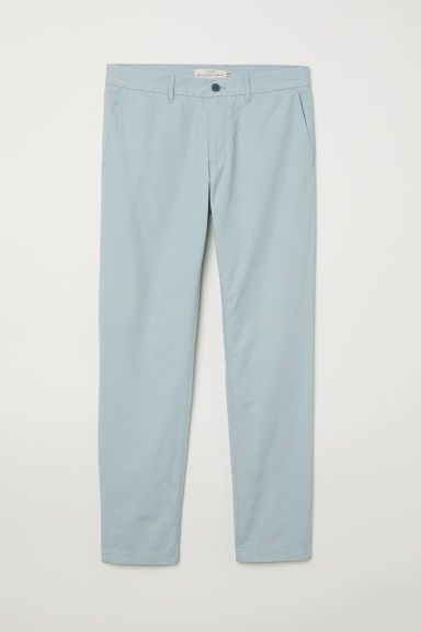 Cotton chinos Slim fit - Light turquoise -  | H&M CN