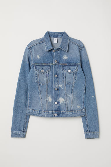 Denim Jacket - Denim blue/trashed - Ladies | H&M US
