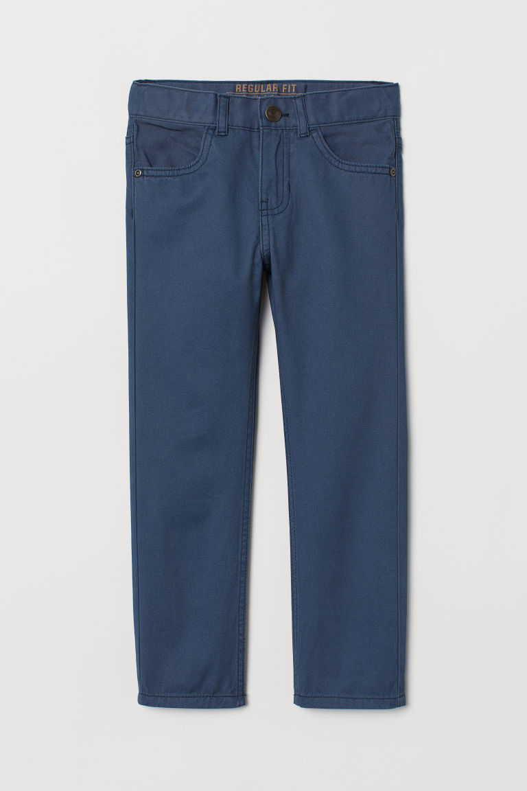 Twill trousers Regular Fit - Dark blue - Kids | H&M CN