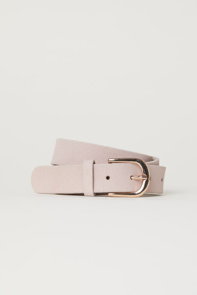 Suede belt - Powder pink - Ladies | H&M CN