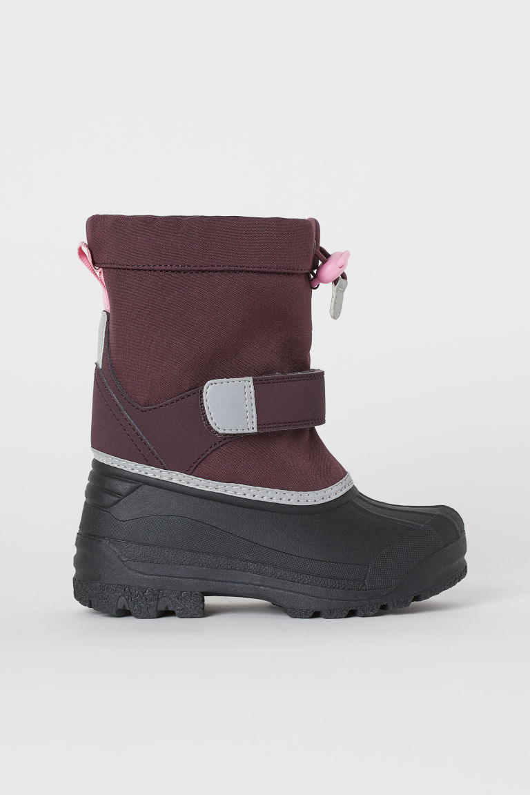 Waterproof boots with lining - Dark red/Black - Kids | H&M